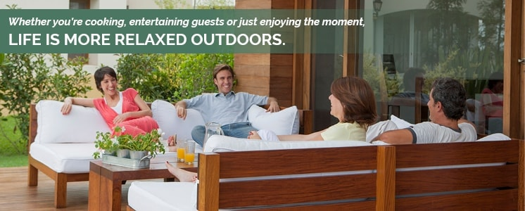 Life is more relaxed outdoors.